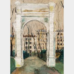 Maurice Utrillo (French, 1883-1955)      L'Arc de Parc Monceau
