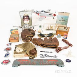 Group of Airplane Memorabilia and Gentlemen's Items