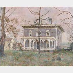 Edmund Quincy (American, b. 1903)  An American House   or Marcellus Moorish