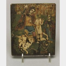 Small Greek Icon of St. George and the Dragon