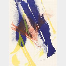 Lot of Two Lithographs:    Paul Jenkins (American, b. 1923), Untitled