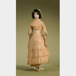 Papier-mache Doll with Rare Hairstyle