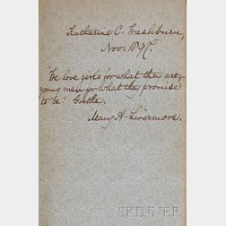 Livermore, Mary A. (1820-1905), Signed Copy