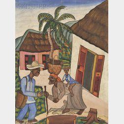 Castera Bazile (Haitian, 1923-1966)      Pitié maternelle