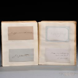 Presidential and Literary Autographs c. 1875.