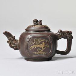 Yixing Teapot with Phoenix Design