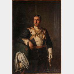 Herman Gustave Herkomer (American, 1862-1935)      Portrait of Sir Francis Burdett, VIII Baronet, 17th Lancers