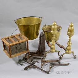 Group of Metal Domestic Items