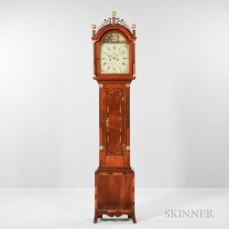 Joshua Wilder Mahogany and Mahogany Veneer Tall Clock