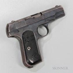 Colt Model 1908 Pocket Hammerless Semiautomatic Pistol