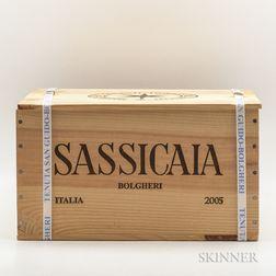 Tenuta San Guido Sassicaia 2005, 6 bottles (banded owc)