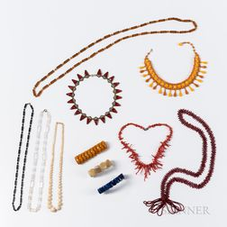 Group of Bead Necklaces and Bracelets