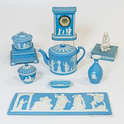 Group of Wedgwood Light Blue Jasperware