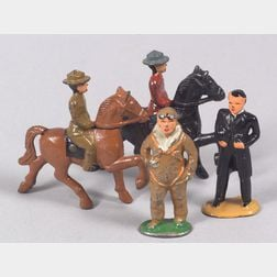 Grey Iron and Barclay Dime Store Figures