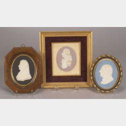 Three Wedgwood Jasper Portrait Plaques