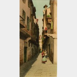 Eugenio Benvenuti (Italian, 1881-1959)    Venetian Street
