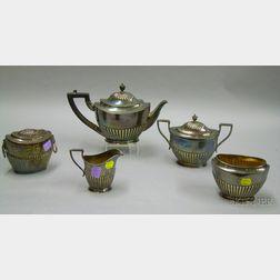 Tiffany & Company Five Piece Silver Plate Tea Set.