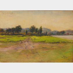 Hezekiah Anthony Dyer (American, 1872-1943)      Lot of Two Landscape Views: Hamilton, Rhode Island