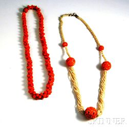 Two Coral Necklaces