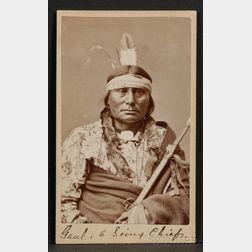 Carte de Visite of Sioux Chief Gaul