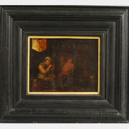 Flemish School, 17th Century      Two Men in an Interior Scene