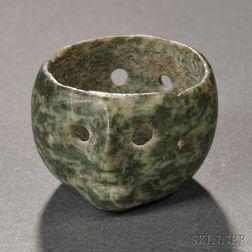 Colima Janiform Jade Bowl