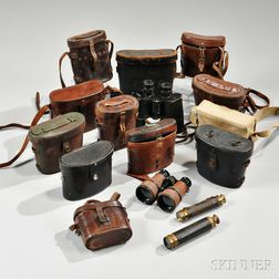 Group of Military Binoculars and Spy Glasses