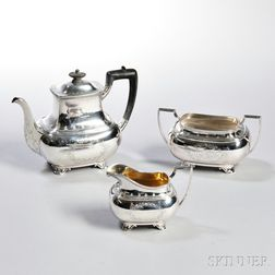 Three-piece Gorham Sterling Silver Tea Service