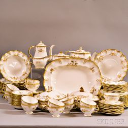 "Royal Crown Derby ""Royal St. James"" Porcelain Partial Dinner Service"