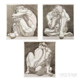 Paul Cadmus (American, 1904-1999)      Suite of Three Works: Nudo 1, 2  , and 3