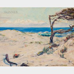 William Posey Silva (American, 1859-1948)      Pines on the Dunes, Monterey Coast