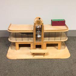 Plywood Model of an Art Deco Garage