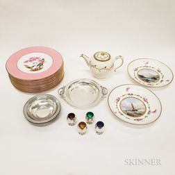 Group of Sterling Silver and Porcelain Tableware