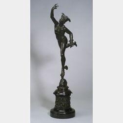 Large Bronze Figure of Mercury