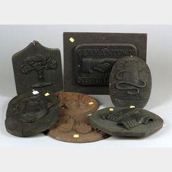 Seven Cast Iron Firemarks