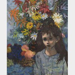 Louis Anthony Burnett (American, b. 1907)    Young Girl