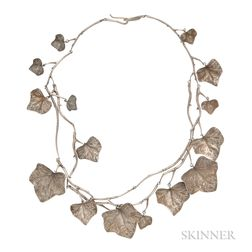 Sterling Silver Ivy Leaf Necklace, Gabriella Kiss, Retailed by Quadrum