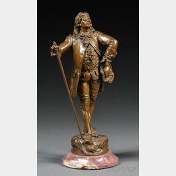 After Emile Piccault (French, 1833-1915)      Bronze Figure of Le Bourgeois Gentilhomme Molière