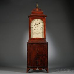 Joseph Loring Mahogany Shelf Clock