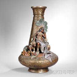Austrian Egyptian-Revival Terra-cotta Vase