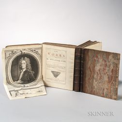 Pope, Alexander (1688-1744) The Works   [and] Poems and Imitations of Horace, 1717-1738.