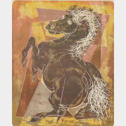 Framed Hans Erni (Swiss, 1909-2015) Lithograph Stallion