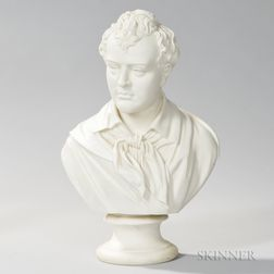 Robinson and Leadbeater Parian Bust of Byron