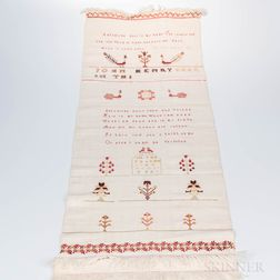 Needlework Embroidered Show Towel