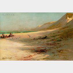 Arthur Vidal Diehl (American, 1870-1929)    Dunes and Gulls