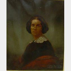 Albert Gallatin Hoit (American, 1809-1856)  Portrait of Ada Bachi (a.k.a. Addie Snow, Mrs. Ignatius Bachi, Mrs. Daniel Kimball, Jr.) Un