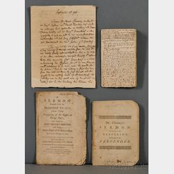 Chauncy, Charles (1705-1787) Small Archive of Printed and Manuscript Material.