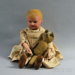 Large Martha Chase-type Painted Stockinette Baby Doll