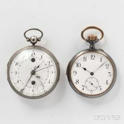 Two Quarter-hour Repeating and Verge Fusee Alarm Watches