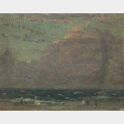 Arthur Clifton Goodwin (American, 1866-1929)      Figures on a Beach at Dusk